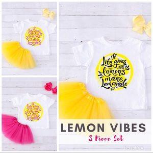 Other - NEW! #LemonVibes 3 Piece Boutique Set